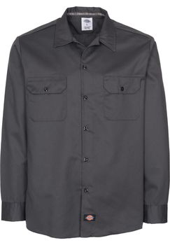 SLIM FIT WORK SHIRT CHARCOAL