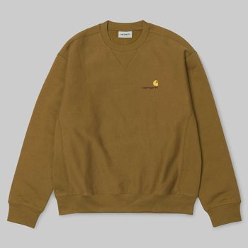 L/S AMERICAN SCRIPT SWEAT HAMILTON BROWN