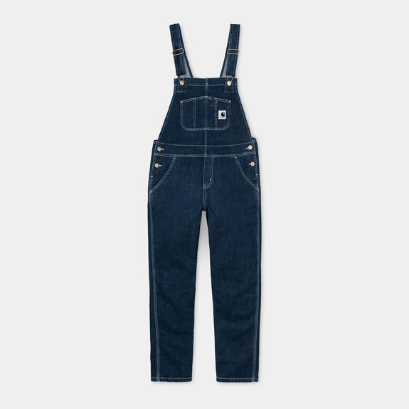 W' BIB OVERALL  STONE WASHED