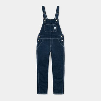 W' BIB OVERALL BLUE LIGHT STONE WASHED