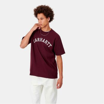 S/S University T-Shirt Bordeau