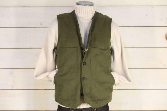 LE GILET JEANNOT CANVAS MOUTON