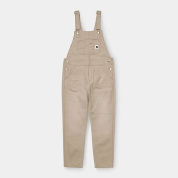 W' BIB OVERALL DUSTY H BROWN