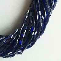 "BUGLE BEADS 1"" FACETTED WITH ROUND HOLE"