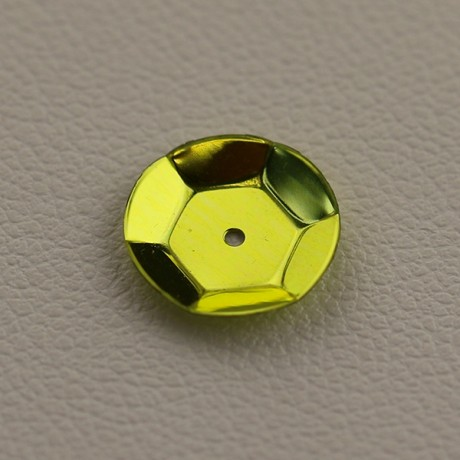 CUP SEQUINS 10 MM Yellow colour N°2056