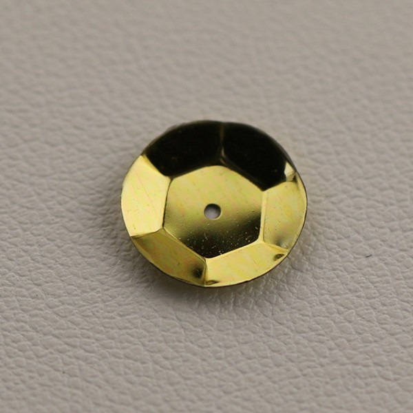 CUP SEQUINS 10 MM Yellow Gold colour N° 2525