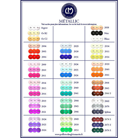 CARTE COLORIS METALLIC 2000