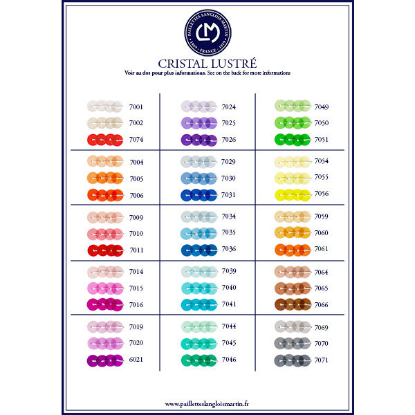 CARD  GLOSSY CRISTAL COLOURS 7000
