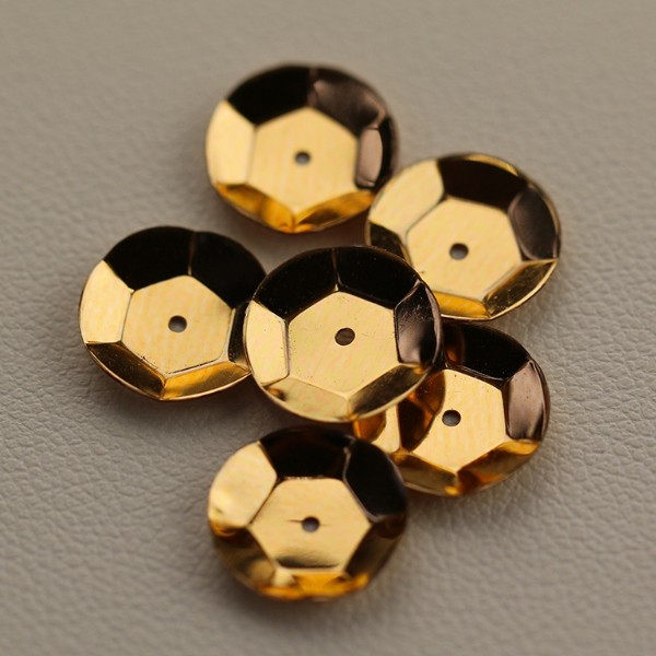 CUP SEQUINS 10 MM Yellow Gold C2 colour