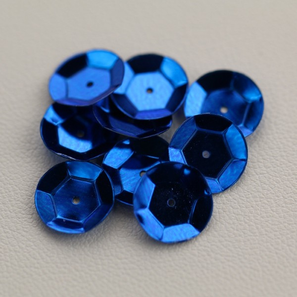 CUP SEQUINS 10 MM Royal Blue colour N°2036