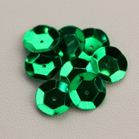 CUP SEQUINS 10 MM Green Meadow colour N°2051