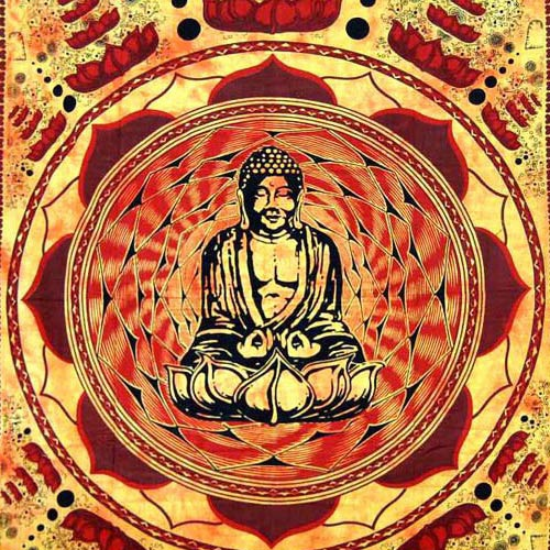 Tenture Bouddha Lotus (Orange)
