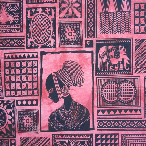 Tenture Patchwork Africaine (Rouge)