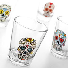 Lot de 4 Verres Shooter Mexican Skull