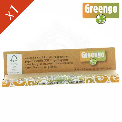 Boite de Grande Feuille à Rouler Greengo Brown © King Size Slim