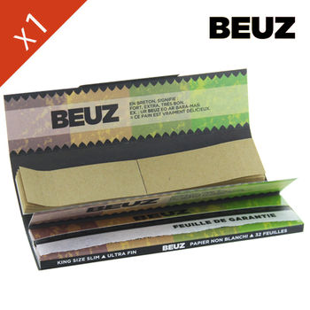 Carnet de Grande Feuille à Rouler Beuz © Slim King Size + Tips Brown
