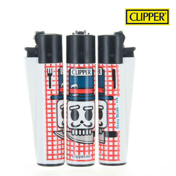 Briquet Clipper © Scary Skull (Rouge)