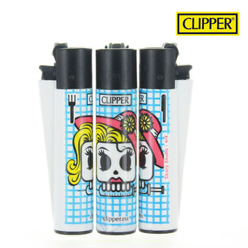Briquet Clipper © Scary Skull (Bleu)
