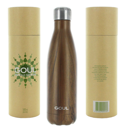 Bouteille isotherme Goul © 500ml (Brown Wood)