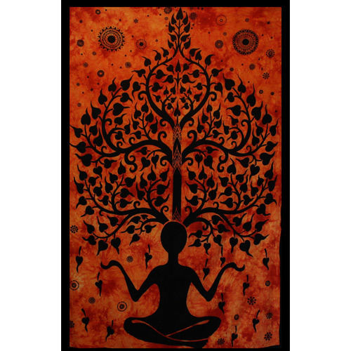 Tenture Yoga Tree Man (Orange)