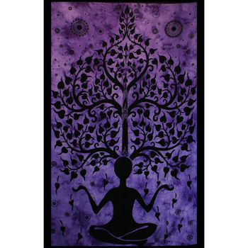Tenture Yoga Tree Man (Violet)