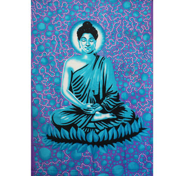 Tenture Space Bouddha (Turquoise)
