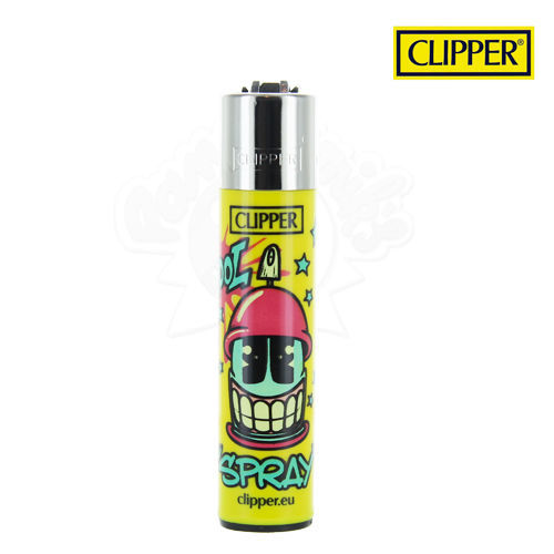 Briquet Clipper © Cool Spray (Jaune)