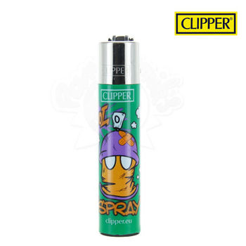 Briquet Clipper © Cool Spray (Vert)