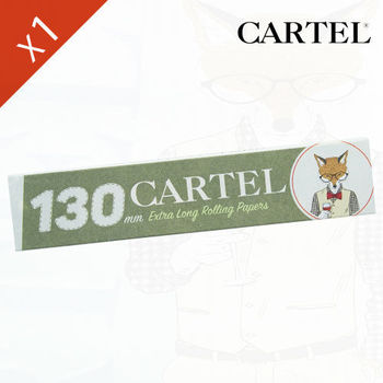 "Carnet de feuille Slim Blanc Cartel © Extra Long 130mm ""Renard"""