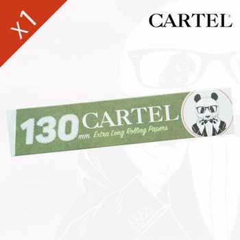 "Carnet de feuille Slim Blanc Cartel © Extra Long 130mm ""Panda"""