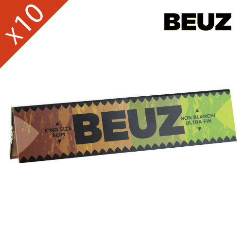 Lot de 10 Carnets de Grande Feuille à Rouler Beuz Brown © Slim