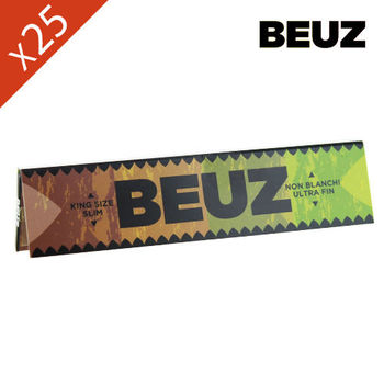 Lot de 25 Carnets de Grande Feuille à Rouler Beuz Brown © Slim