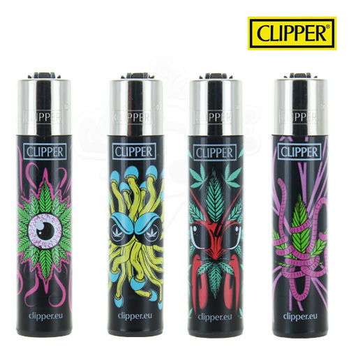 Lot de 4 Briquets Clipper © Monster Leaf