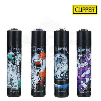 Lot de 4 Briquets Clipper © Astronaute