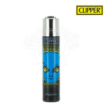 Briquet Clipper © 420 Aliens (Bleu)