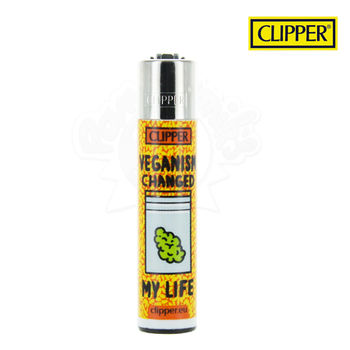Briquet Clipper © Vegan Quotes (Orange)