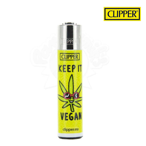 Briquet Clipper © Vegan Quotes (Jaune)