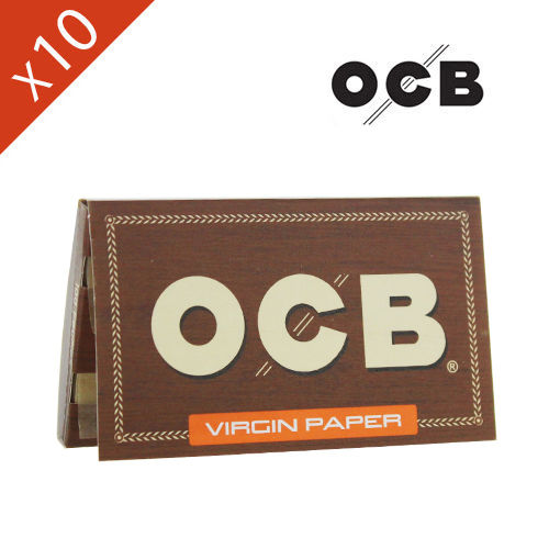 Lot de 10 Carnets de Petite Feuille à rouler OCB @ Virgin Regular