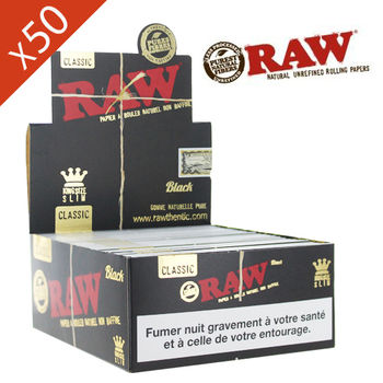 Boite de grande Feuille à rouler Raw © Slim King Size Black