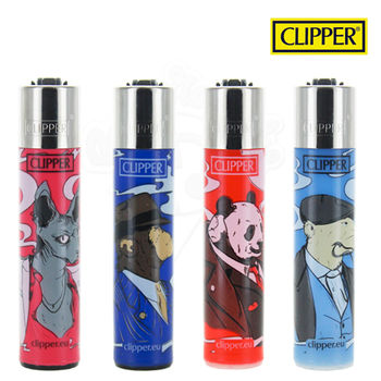 Lot de 4 Briquets Clipper © Gangsters