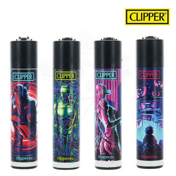 Lot de 4 Briquets Clipper © Cybernetics