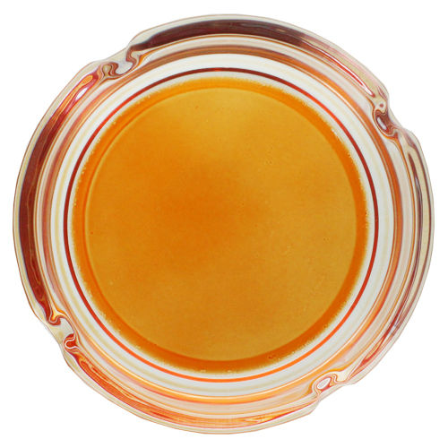 "Cendrier rond en Verre ""Colors"" (Orange)"