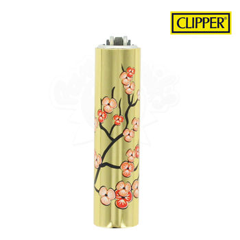 Briquet Clipper © Métal Gold Flower 02