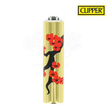 Briquet Clipper © Métal Gold Flower 04