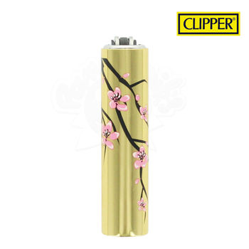 Briquet Clipper © Métal Gold Flower 06