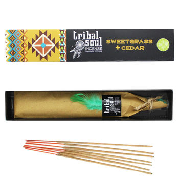 Paquet Encens Tribal Soul © Sweetgrass + Cedar 15gr