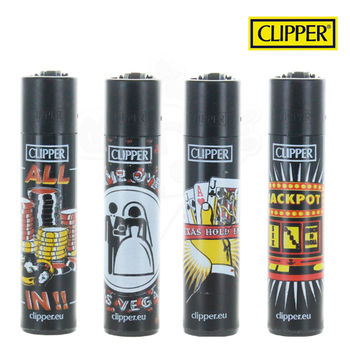 Lot de 4 Briquets Clipper © Las Vegas