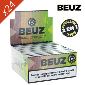 Boite de Grande Feuille à Rouler Beuz © Slim King Size + Tips Brown