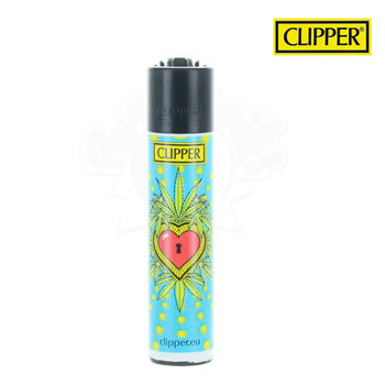 Briquet Clipper © 420 Hearts (Bleu)