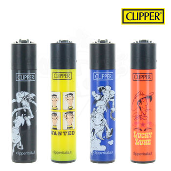 Lot de 4 Briquets Clipper © Lucky Luke Série 04